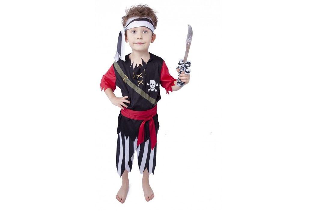 Rappa Karnevalový kostým pirát s šátkem vel. S (110-116)
