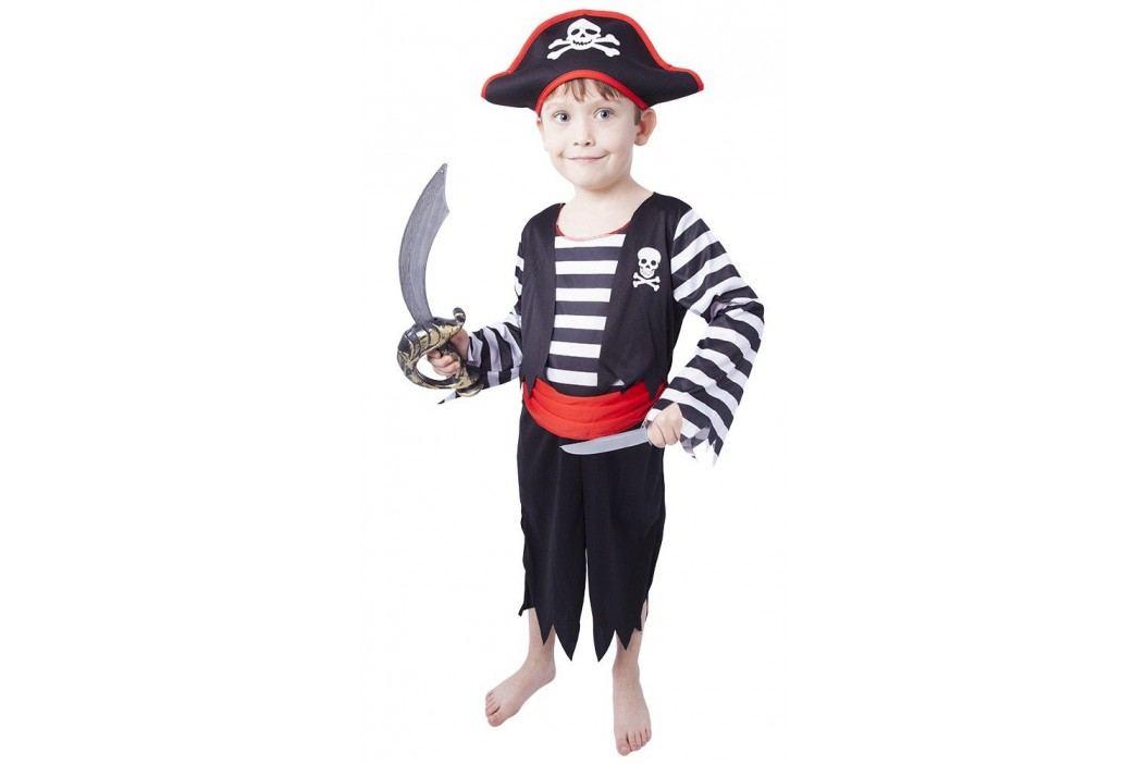 Rappa Karnevalový kostým pirát s čepicí vel. M (116-128)