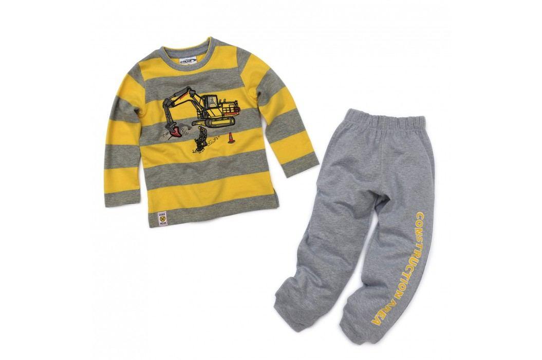 Gelati Chlapecká žluto-šedá souprava - bagrování
