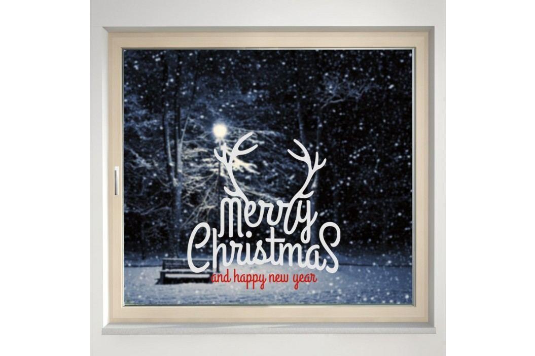 Housedecor Samolepka na sklo Merry Christmas