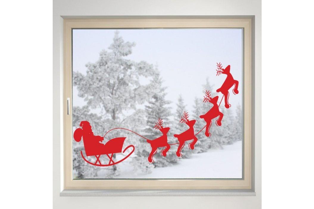 Housedecor Samolepka na sklo Santa a sobi
