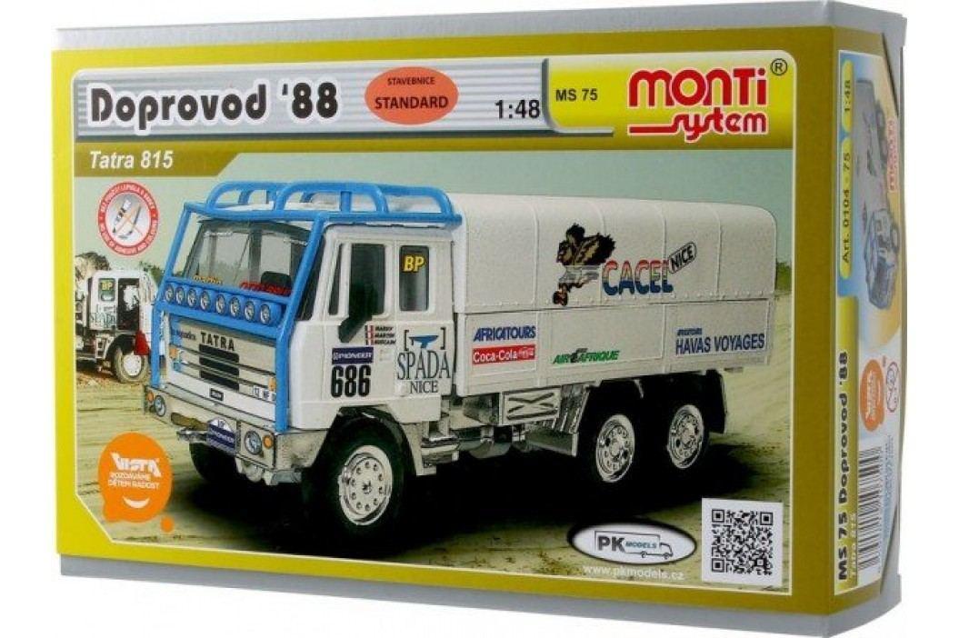Vista Stavebnice Monti 75 Tatra 815 doprovod Rallye 1988 1:48