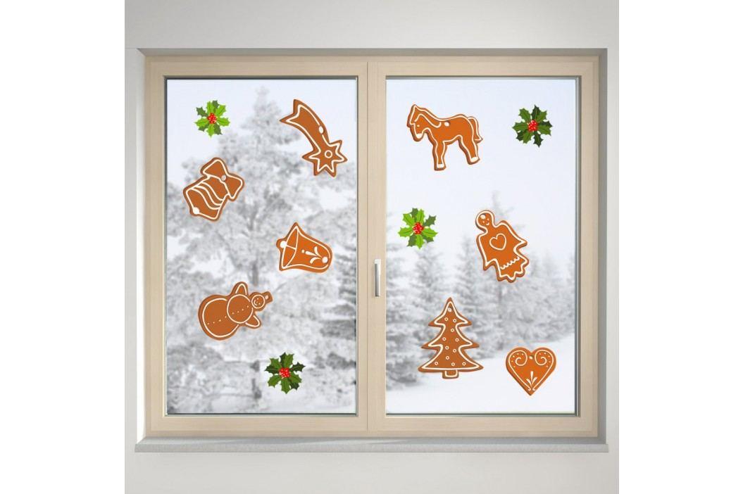 Housedecor Samolepka na sklo Vánoční cukroví
