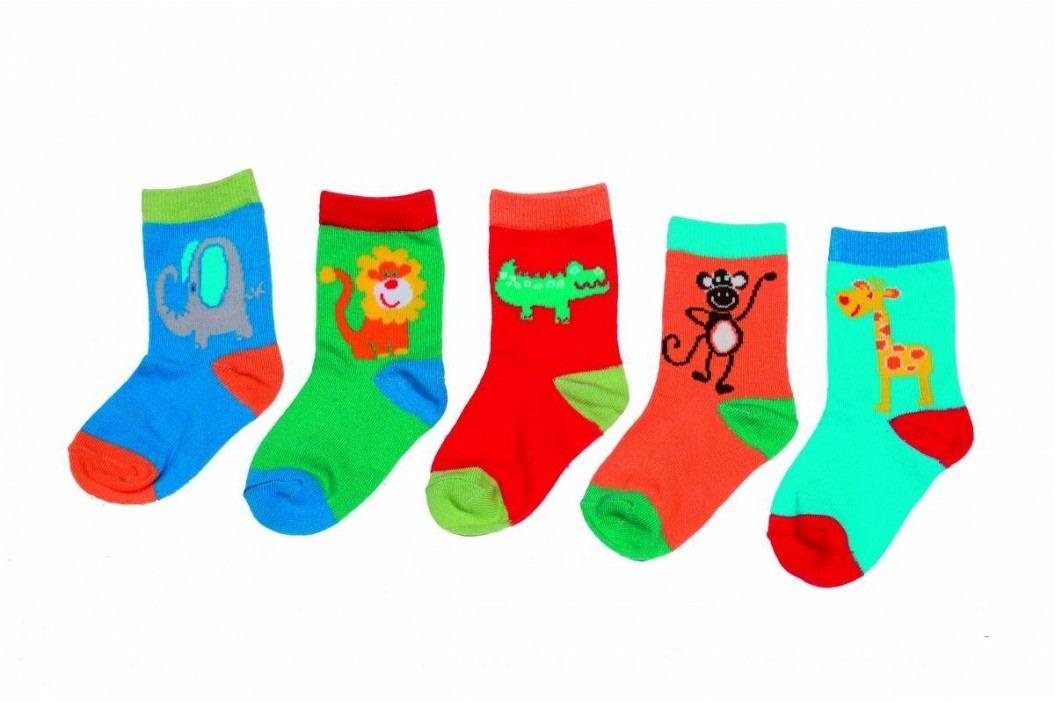 PIDILIDI Dětská sada 5ks ponožek - barevná