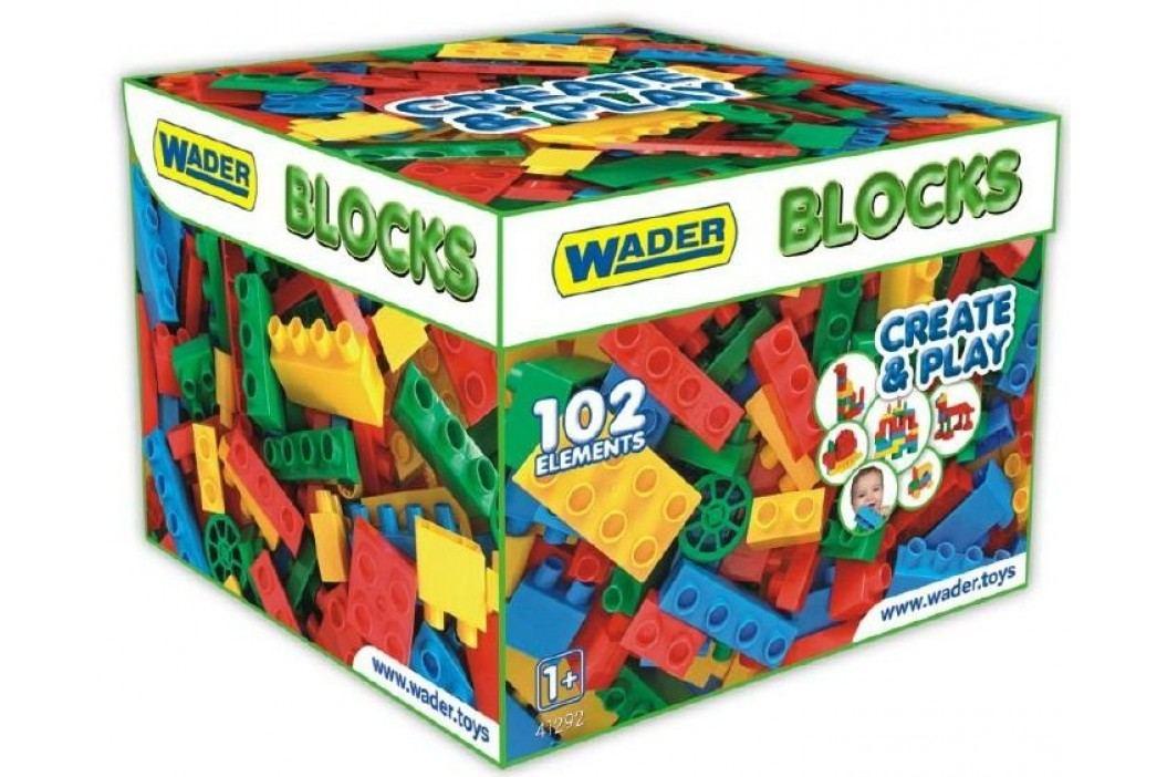 WADER Kostky stavebnice pro kluky plast 102 ks