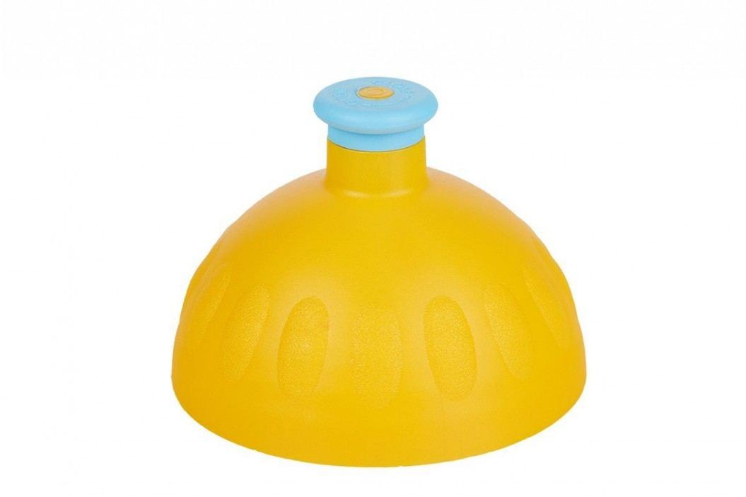Zdravá lahev Náhradní kompletní víčko tmavě žluté/zátka modrá