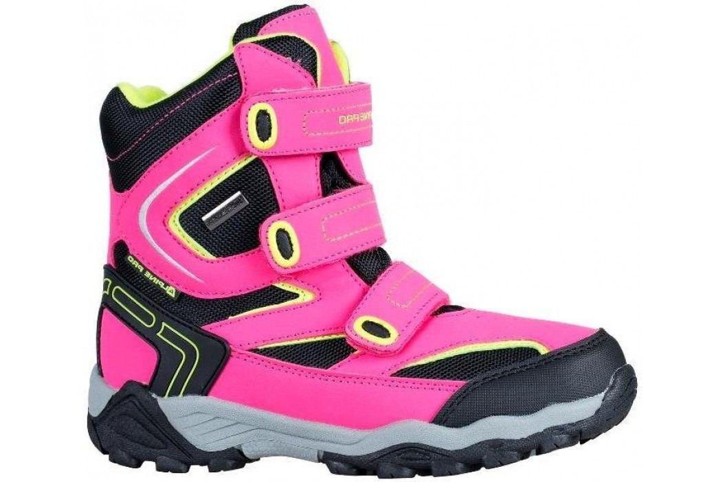 ALPINE PRO Dívčí vysoké zimní boty Dairo - růžové