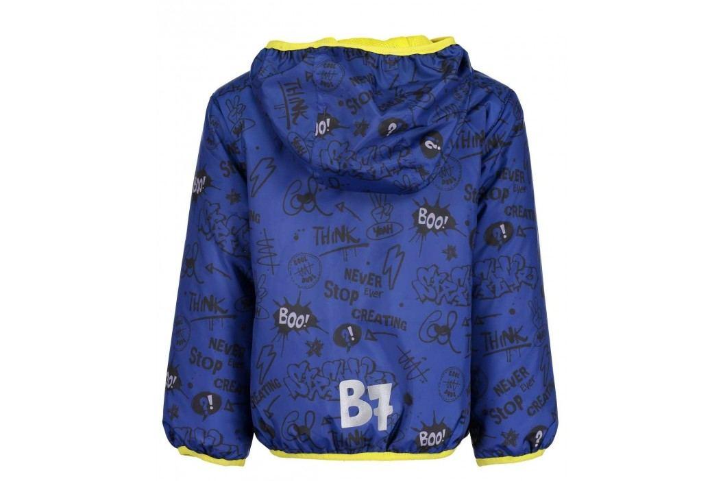 Blue Seven Chlapecká bunda s nápisy - modrá