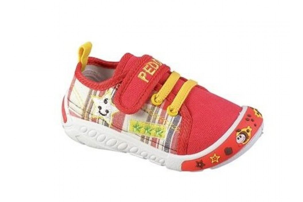 Peddy Dívčí plátěné tenisky - červené