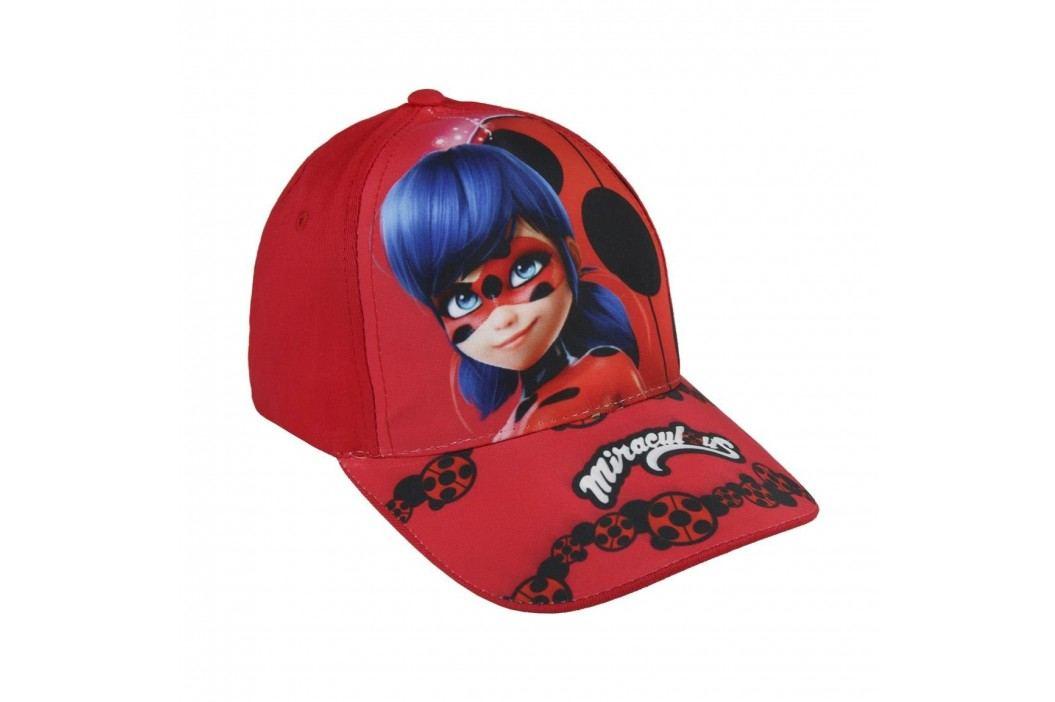 Disney Brand Dívčí kšiltovka Ladybug - červená