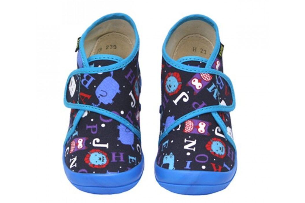 Fare Chlapecké bačkůrky s obrázky - modré