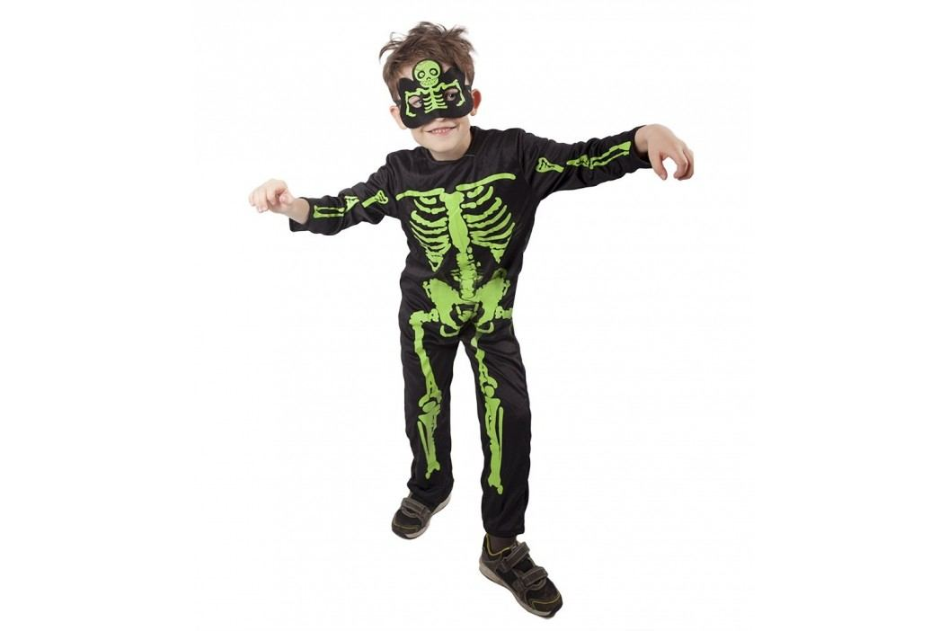 Rappa Karnevalový kostým kostlivec NEON dětský, vel. M