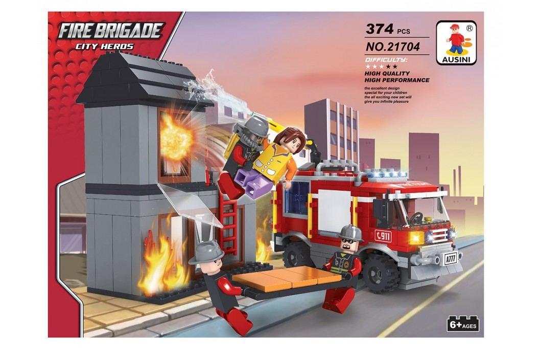Rappa Stavebnice AUSINI hasiči - hořící dům 374 dílů