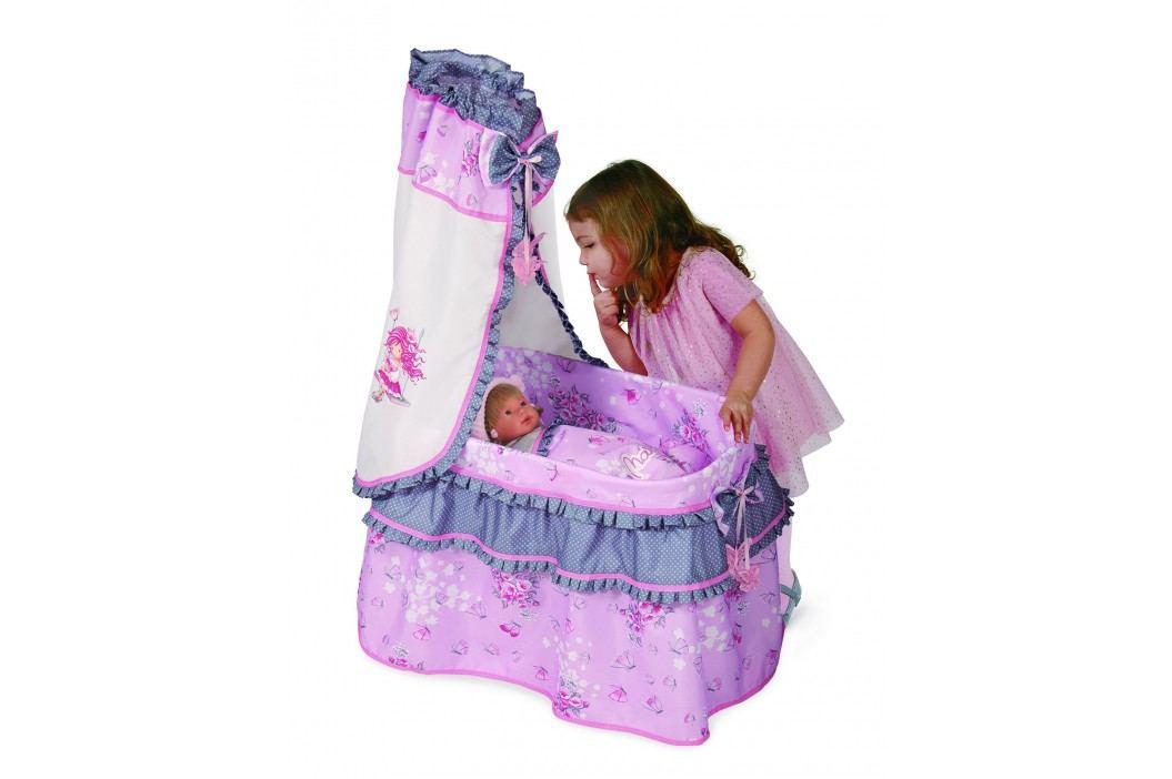 DeCeuvas Toys Postýlka pro panenky s nebesy Maria 2017