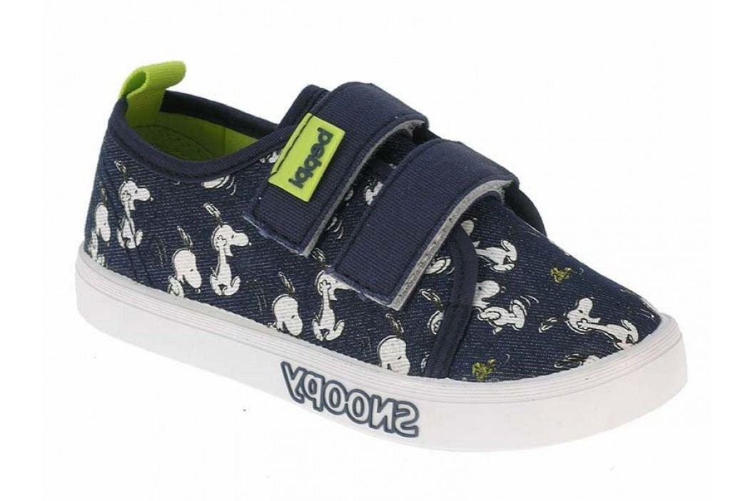 Beppi Chlapecké plátěné tenisky Snoopy - modré