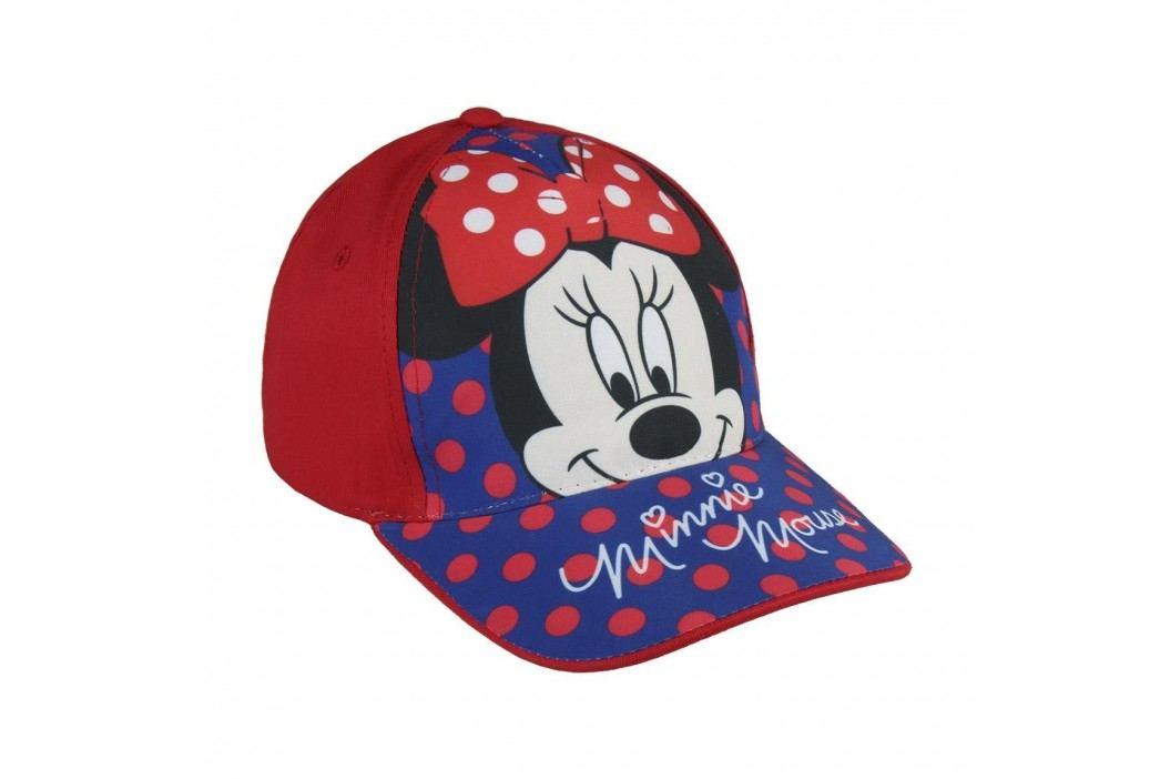 Disney Brand Dívčí kšiltovka Minnie - červeno-modrá