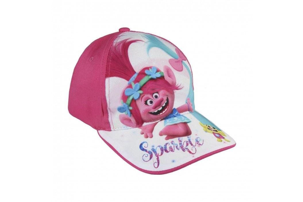 Disney Brand Dívčí kšiltovka Trollové - růžová