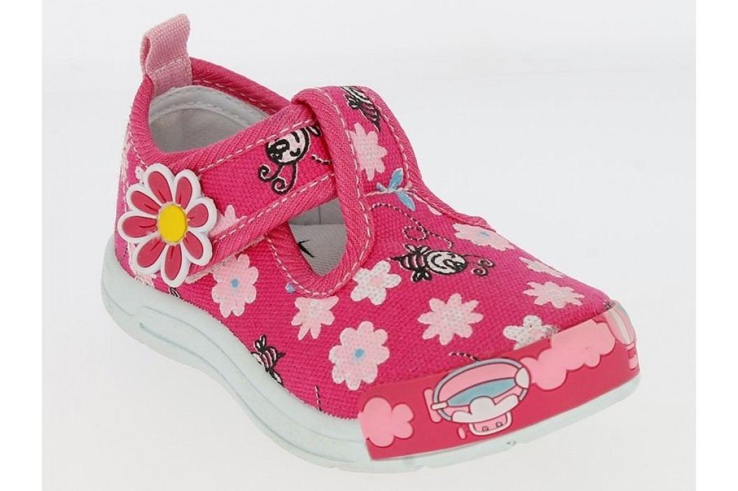 V+J Dívčí bačkůrky s kytičkami - růžové - Prďolin.cz e454947302