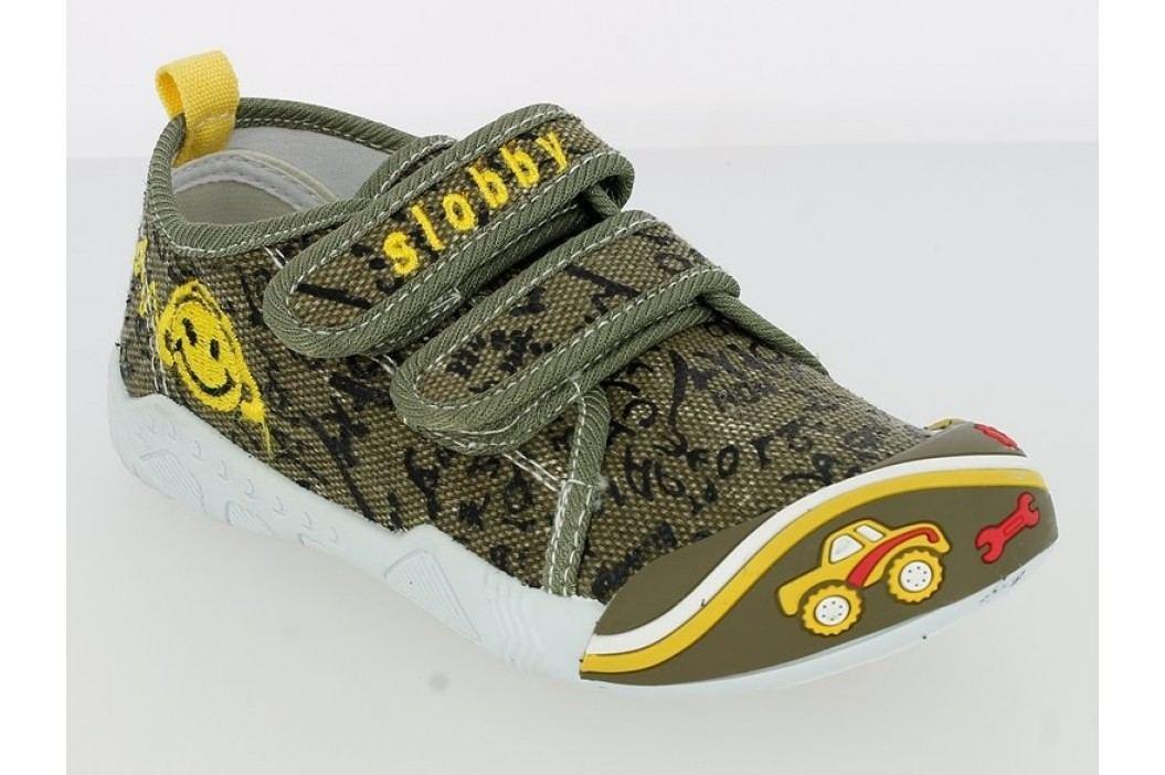 V+J Chlapecké tenisky s autem - khaki
