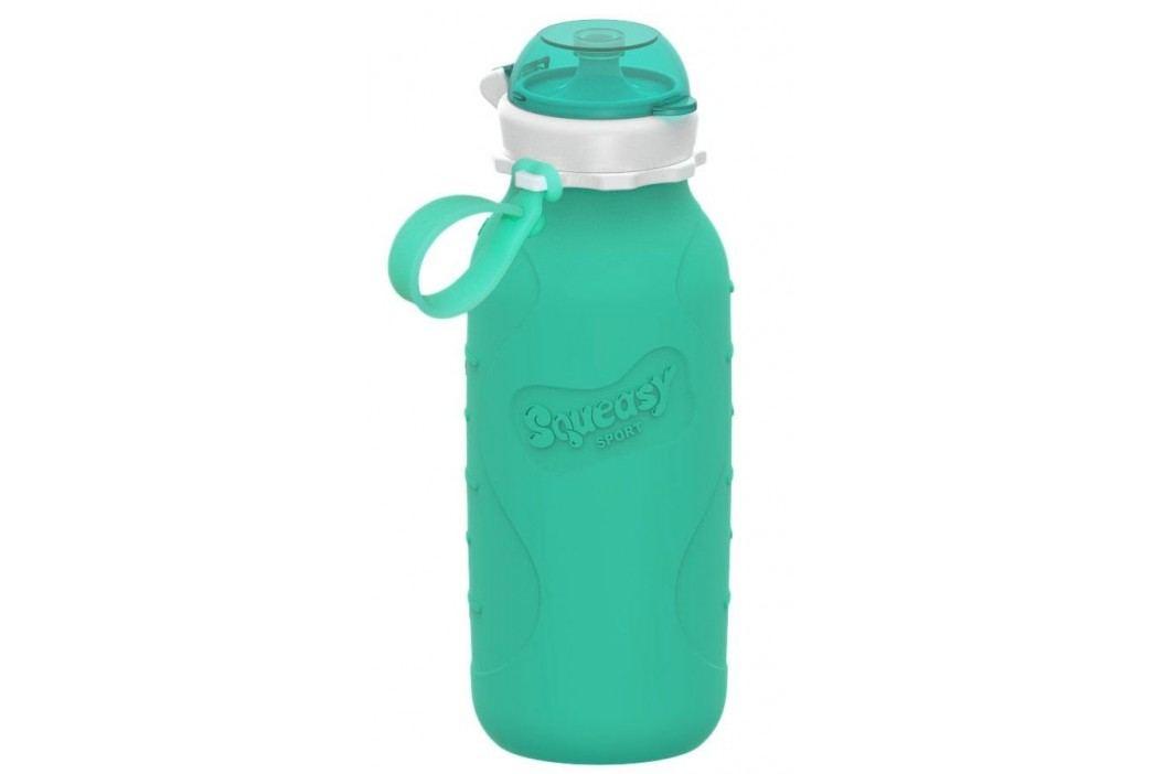 Squeasy Gear Silikonová láhev 480ml, aqua