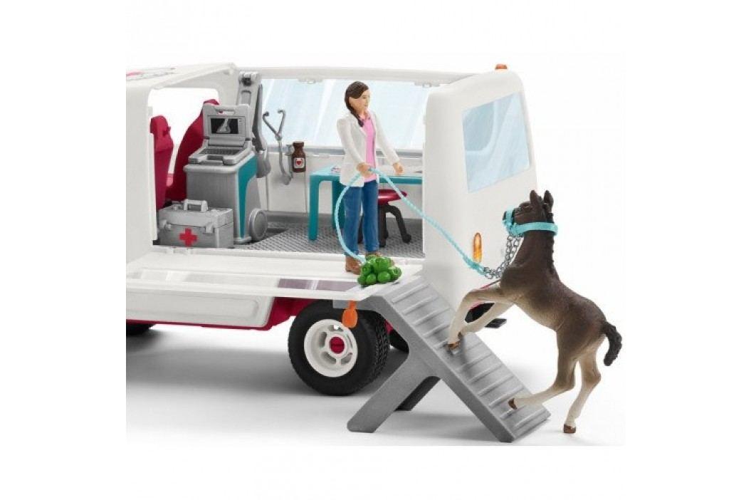 Schleich Mobilní veterinářská klinika s klisnou a ošetřovatelem 42370