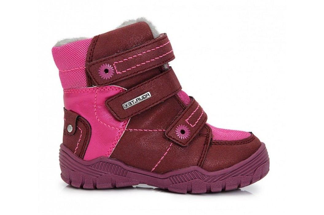 D.D.step Dívčí zateplené boty - růžové