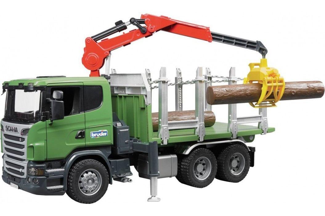 Bruder Scania na přepravu kmenů s nakládacím ramenem a 3 kládami