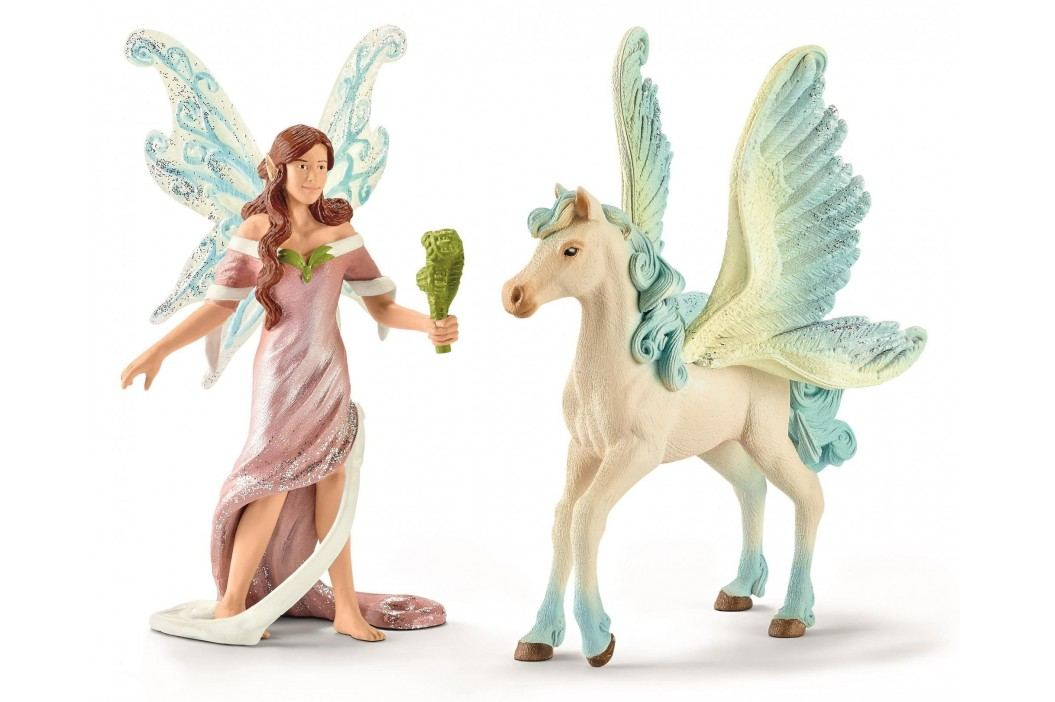 Schleich Elfí víla Safenja s koněm 70539