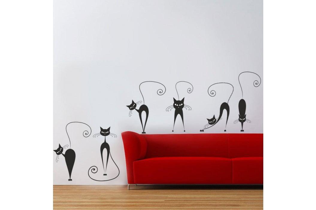 Housedecor Samolepka na zeď Kočky 90x60 cm