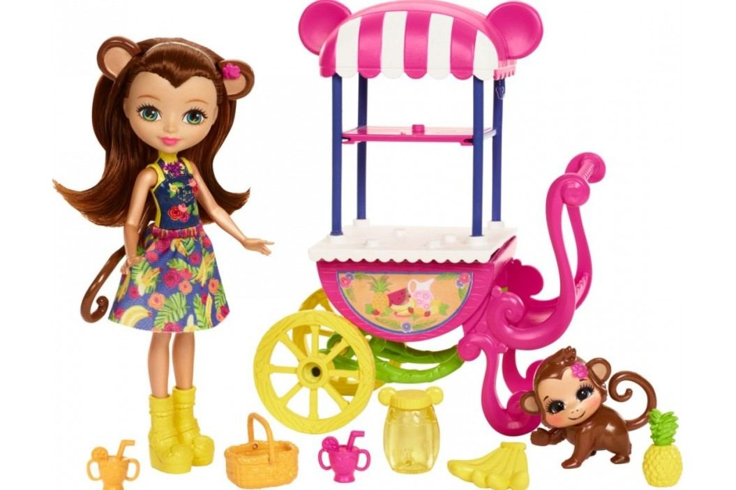 MATTEL Enchantimals Herní set na kolech Fruit Cart