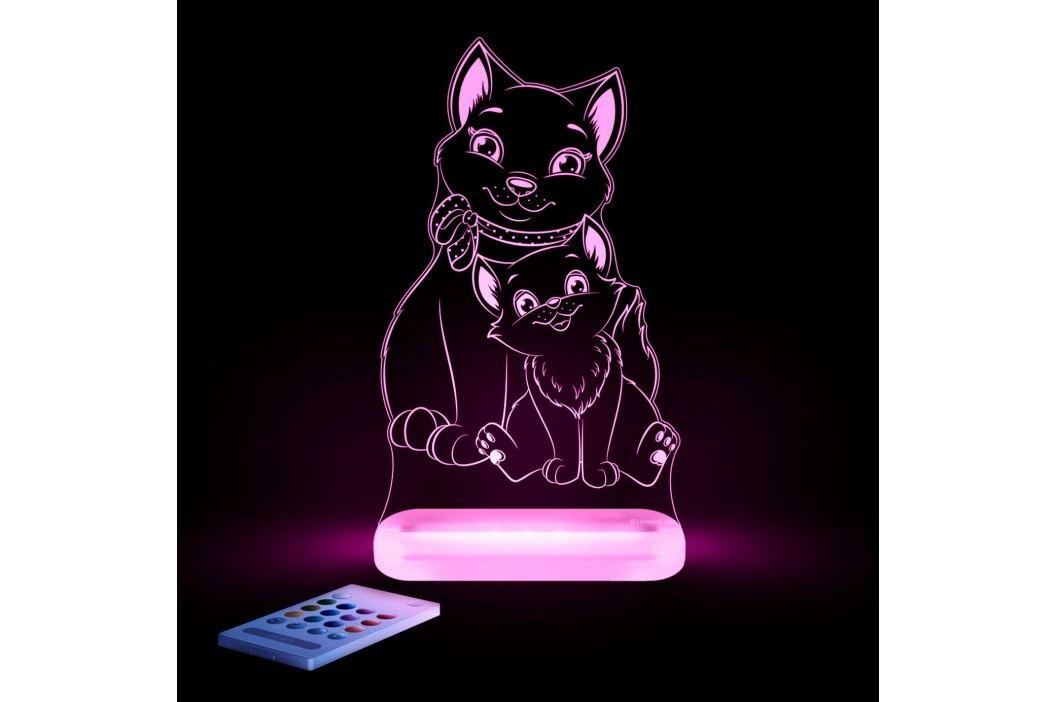Aloka Noční světýlko Kočka + ovladač pro volbu barev