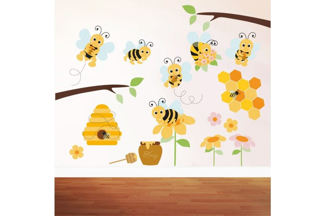 Housedecor Samolepka na zeď Honey bee 90x60 cm