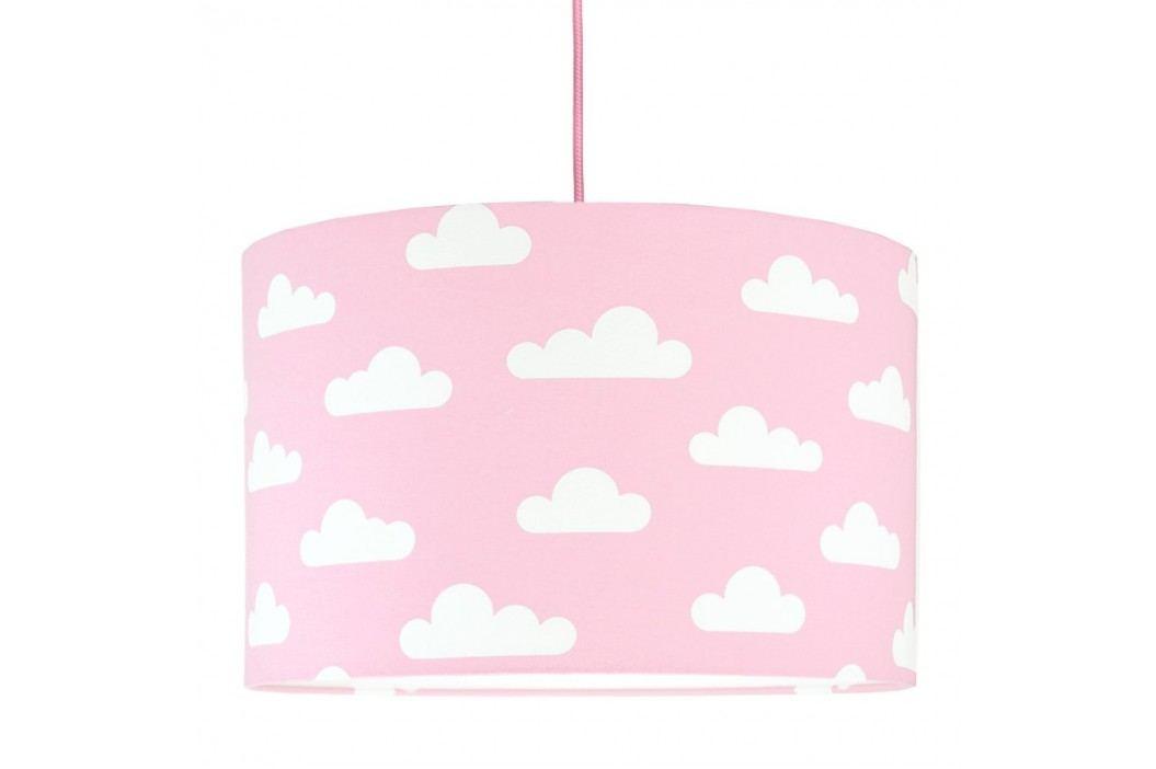 YoungDeco Dětská závěsná lampa s obláčky- růžová