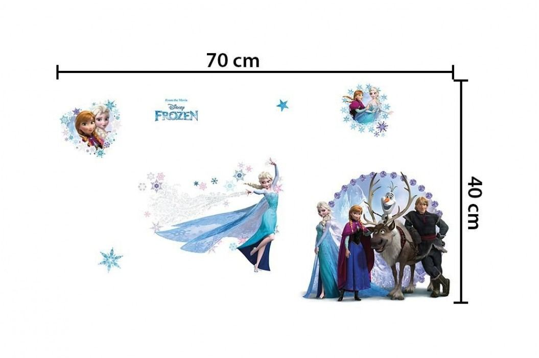 Walplus Samolepka na zeď Frozen, 70x40 cm