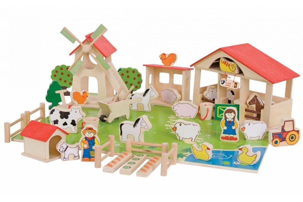 Bigjigs Velká dřevěná farma