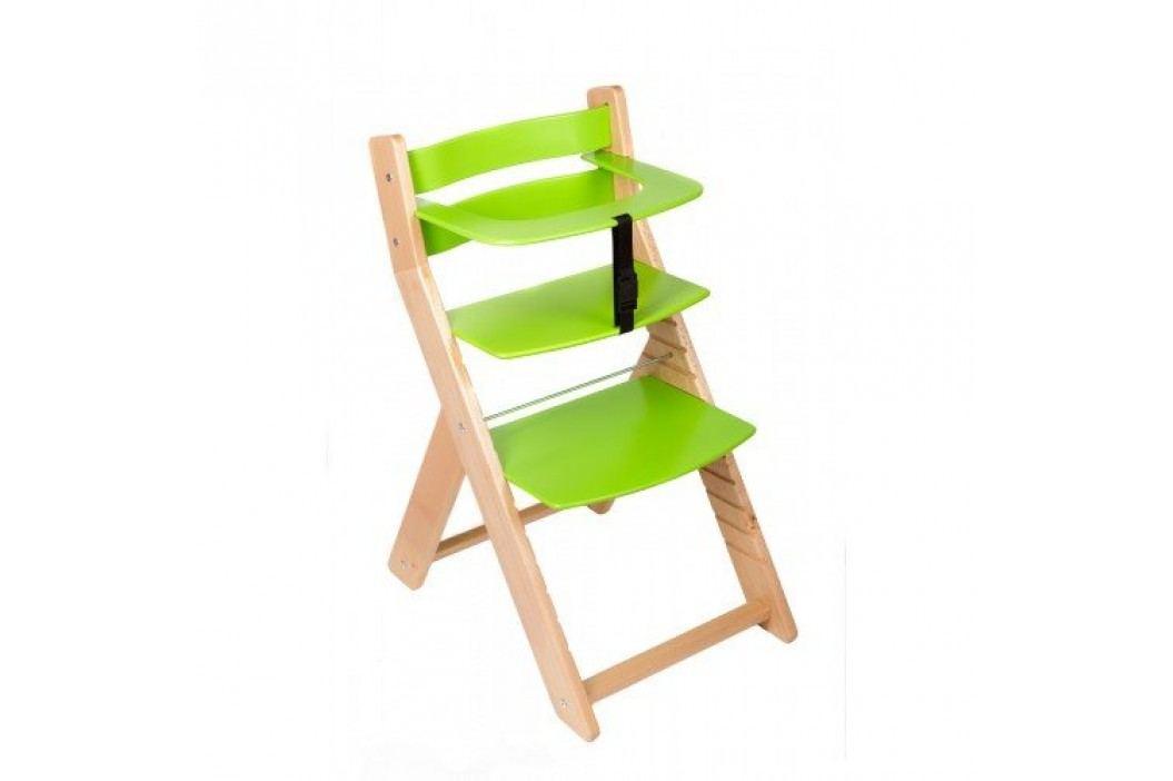 WOOD PARTNER Rostoucí židle UNIZE - natur lak - zelená