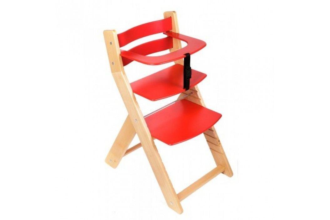 WOOD PARTNER Rostoucí židle UNIZE - natur lak - červená