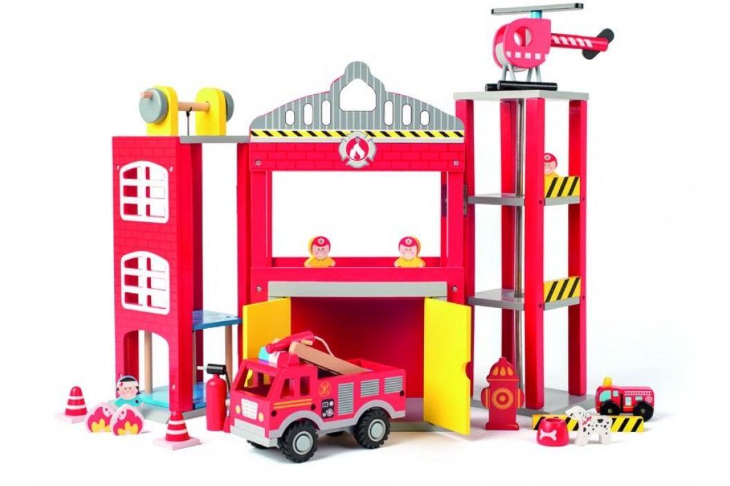WOODY Velká hasičská stanice s autíčky