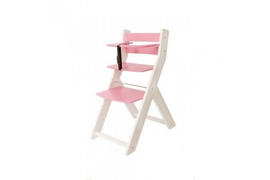 WOOD PARTNER Rostoucí židle UNIZE KOMBI - bílá - růžová