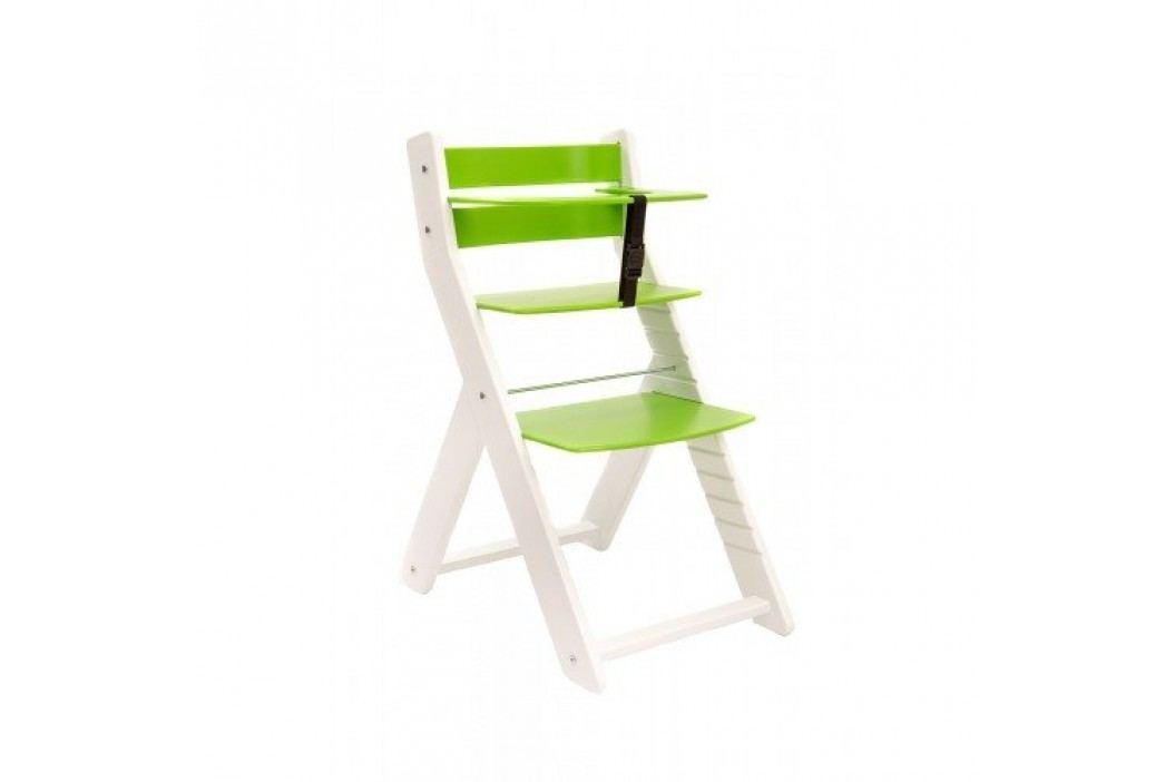 WOOD PARTNER Rostoucí židle UNIZE KOMBI - bílá - zelená