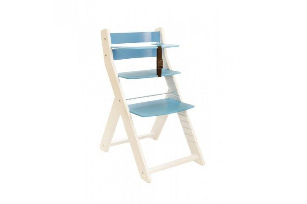 WOOD PARTNER Rostoucí židle UNIZE KOMBI - bílá - modrá