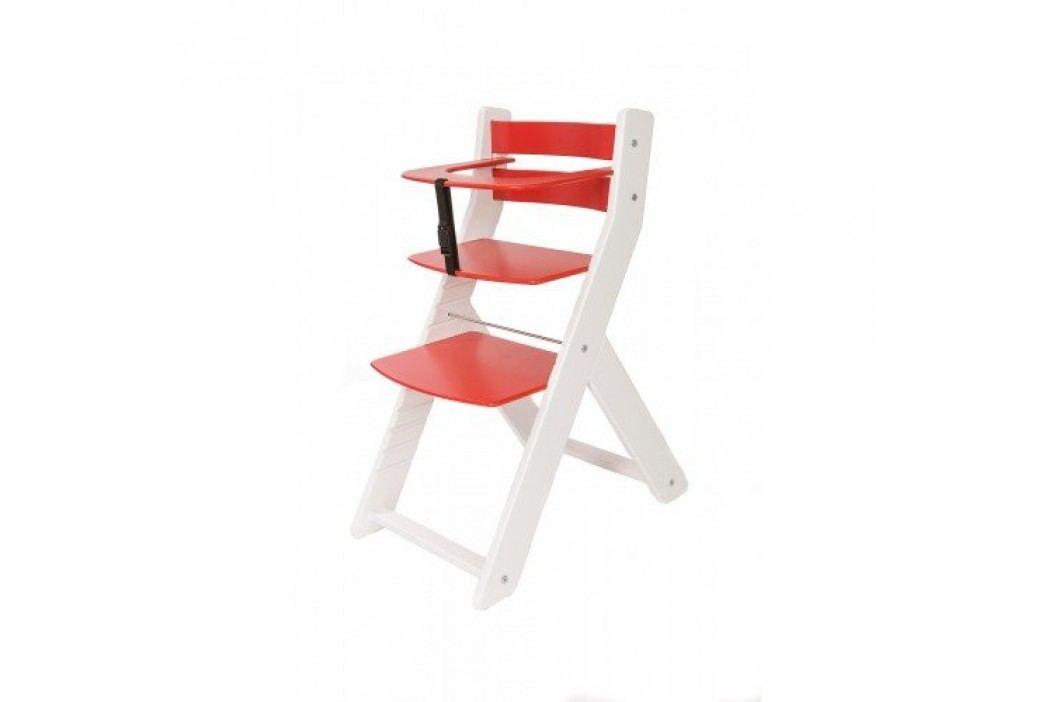 WOOD PARTNER Rostoucí židle UNIZE KOMBI - bílá - červená