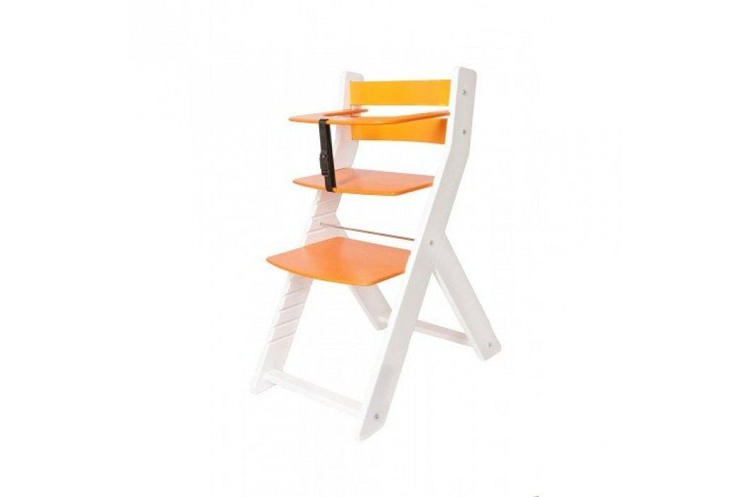 WOOD PARTNER Rostoucí židle UNIZE KOMBI - bílá - oranžová