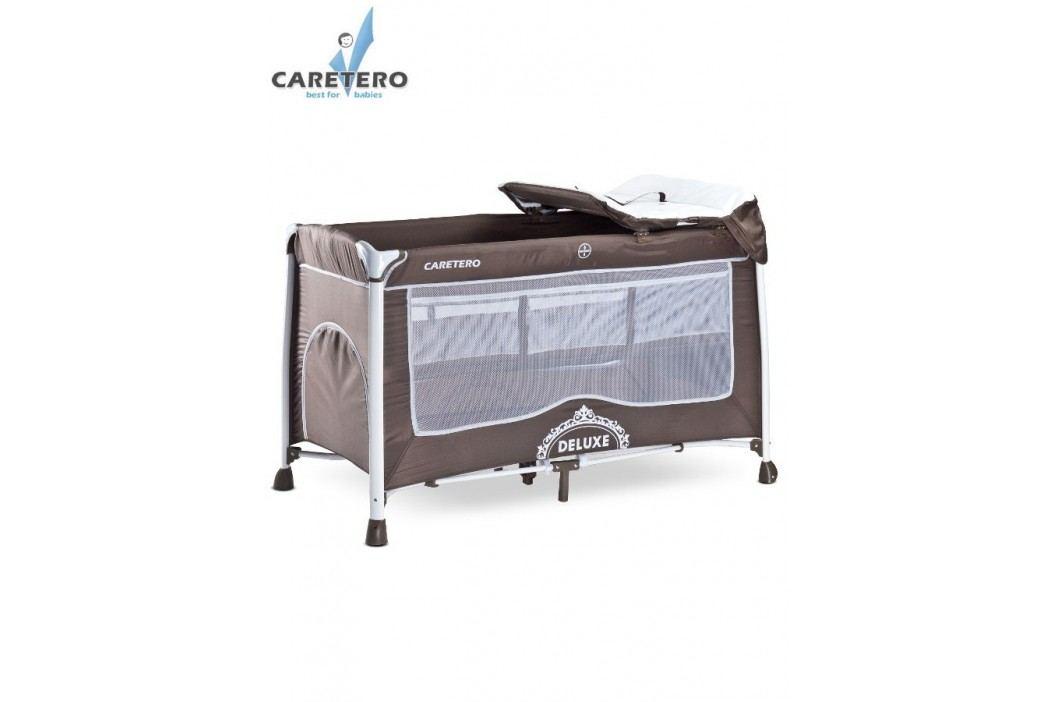 Caretero Cestovní postýlka Deluxe brown