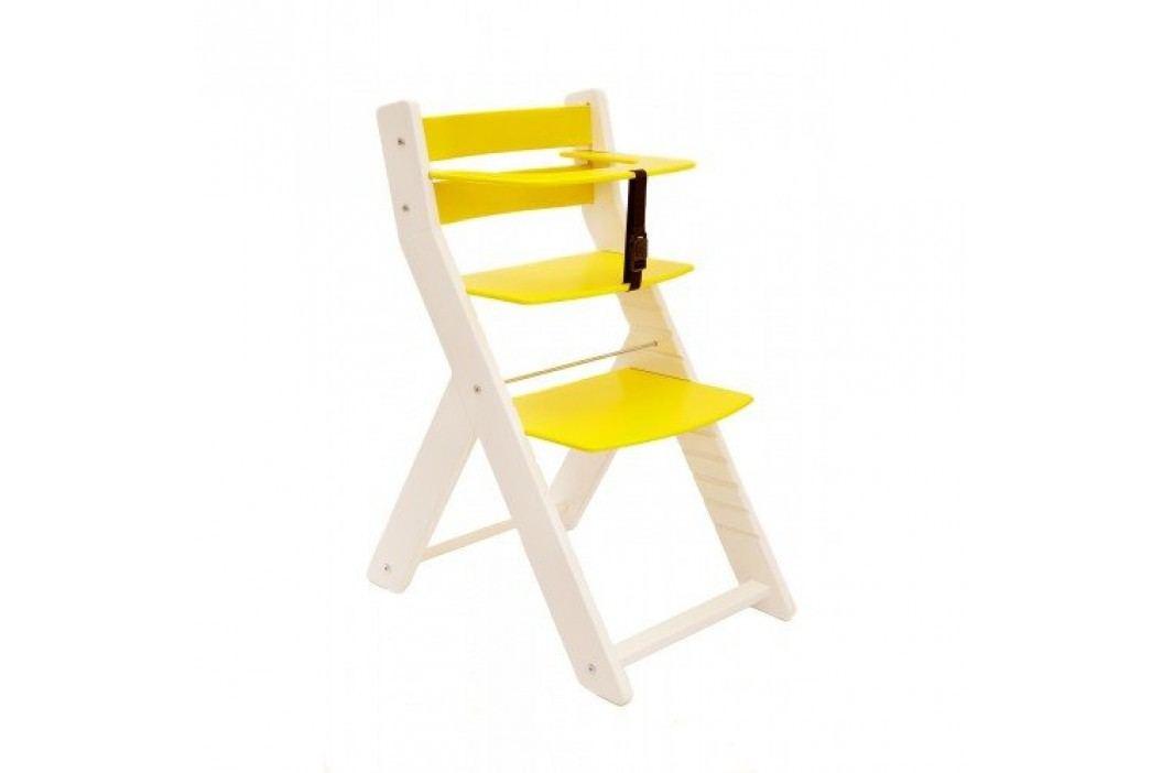 WOOD PARTNER Rostoucí židle UNIZE KOMBI - bílá - žlutá