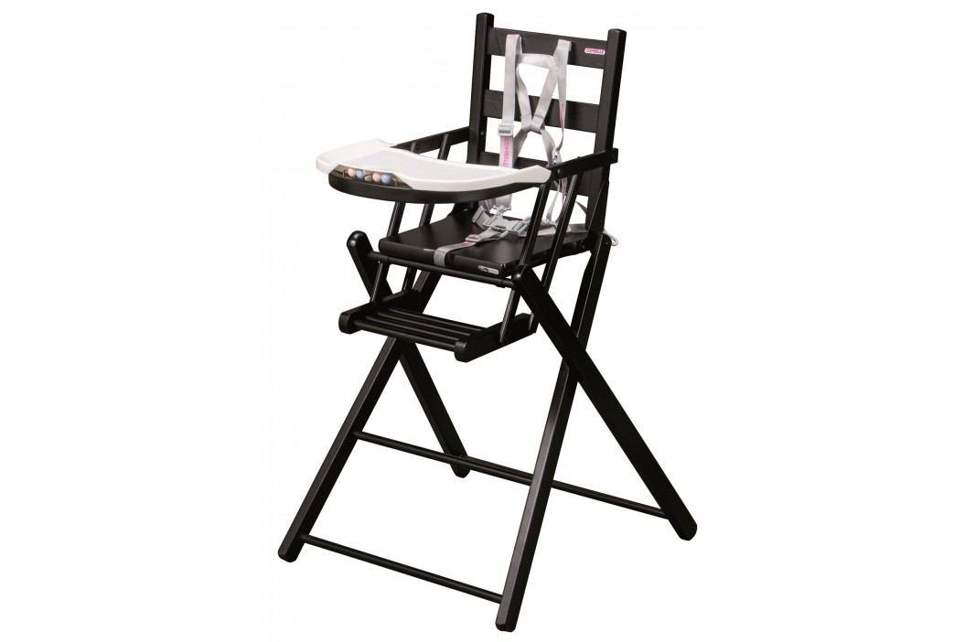 Combelle Skládací jídelní židlička, černá