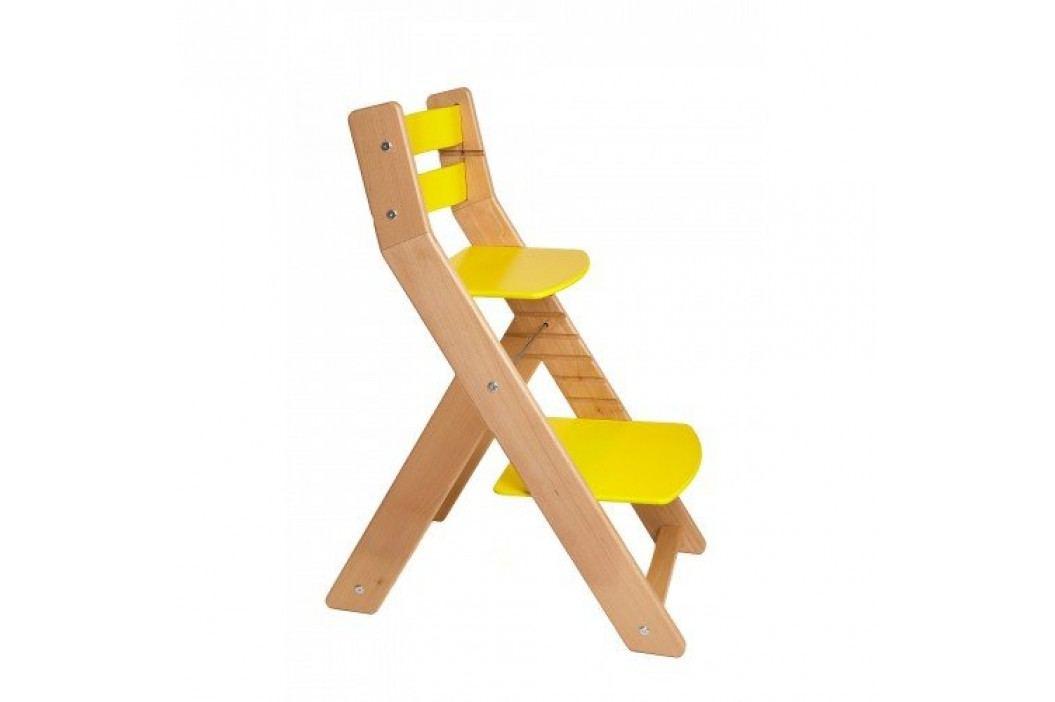 WOOD PARTNER Rostoucí židle MONY natur lak - žlutá