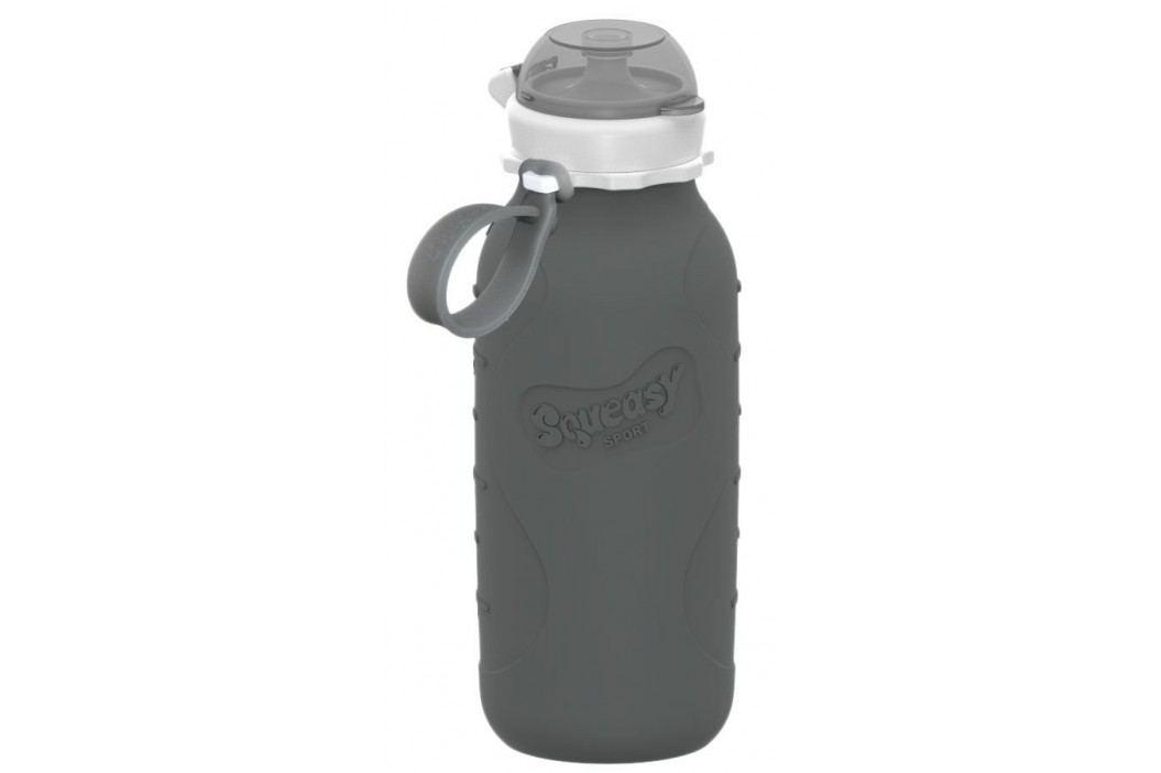 Squeasy Gear Silikonová láhev 480ml, šedá