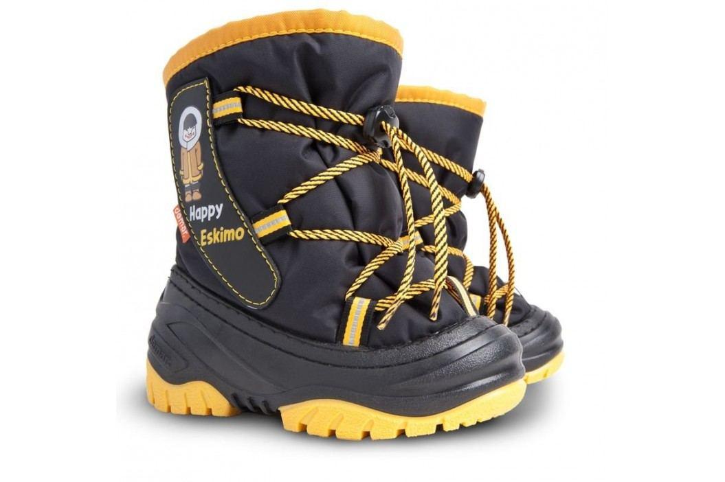 Demar Dětské sněhule Happy Eskimo D - žluto-černé