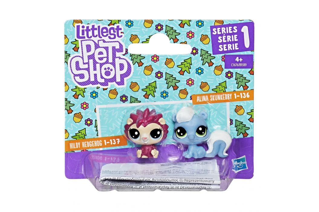 Hasbro Hasbro Littlest Pet Shop Zvířátka DUO Frilly Lepapillon a Pitley Bullbury